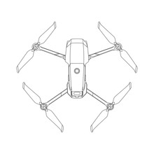 Small Drone Outlines Illustrat...