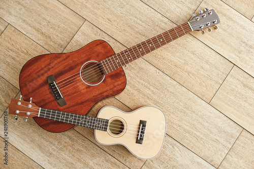 Musical instruments background Fototapet