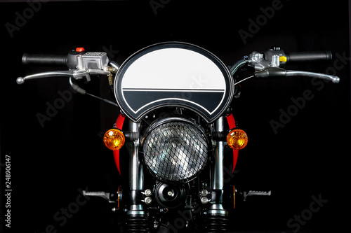 motocycle classic detail Canvas Print