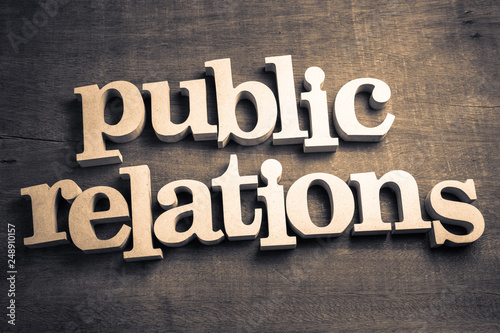 Public Relations Wood Words Canvas Print