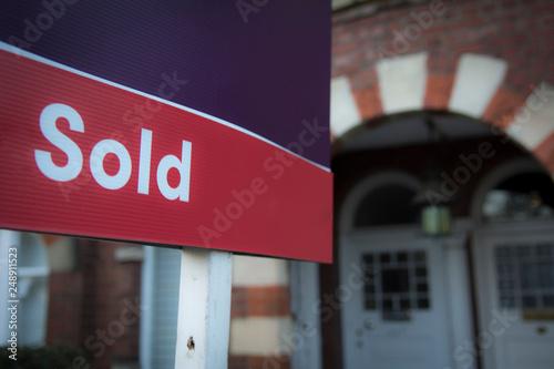 Estate agent 'Sold' sign
