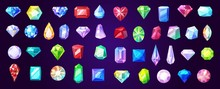 Gems, Diamond And Ruby Vector ...