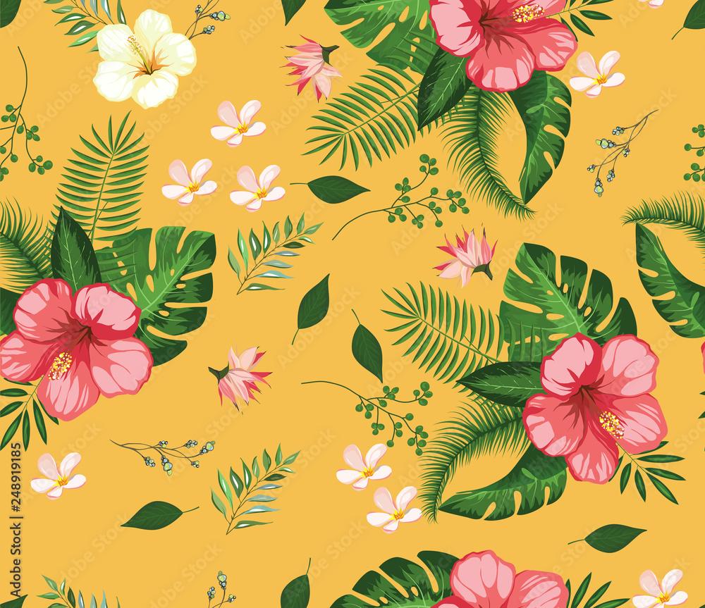 beautiful tropical flower pattern