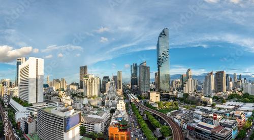 Photo  Bangkok Cityscape Business District , Height Tower , Office , Condominium - Pano