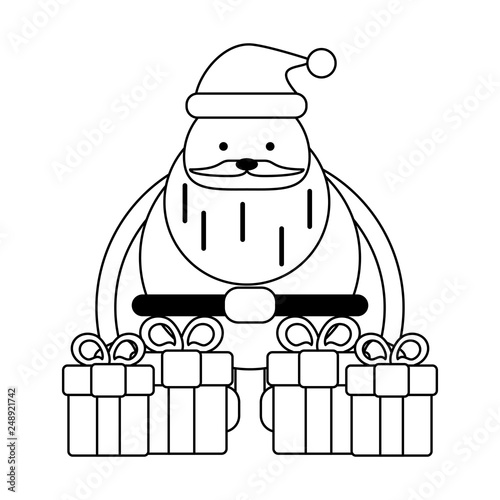 Christmas Images Cartoon Black And White.Christmas Season Cartoons Black And White Buy This Stock