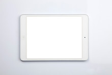 Istanbul, Turkey - 02/06/2019: Ipad Mini. Isolated On White. This Product Was Release On October 2012 By Apple Inc. It Allows To Surf On The Web, Share Data, Do Social Networking, With A Bright Retina