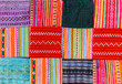 Leinwanddruck Bild - a Patchwork quilt in multicolor asian style