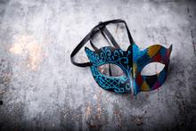 Kolorowa Maska Wenecka.