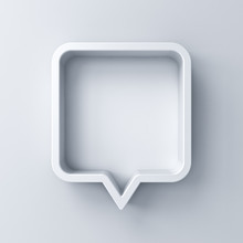 3d Speech Bubble Or Blank Whit...
