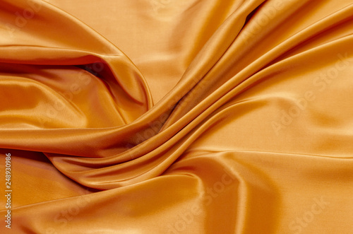 Fotografie, Obraz  Lining fabric of viscose, acetate and elastane brown