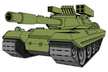Battle Tank Vector, Vector Gra...