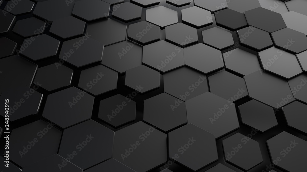 Fototapety, obrazy: Abstract hexagonal background.