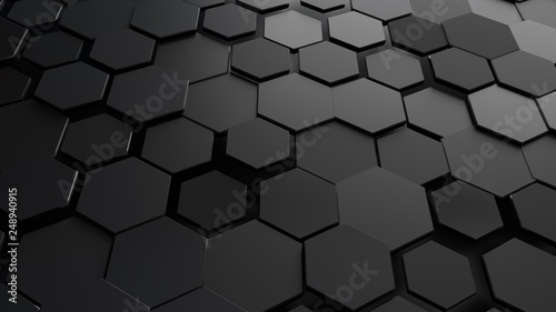 Fotografia  Abstract hexagonal background.