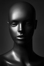 Plastic Mannequin In Black And White Edition