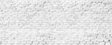 Fototapeta Do przedpokoju - white brick wall texture