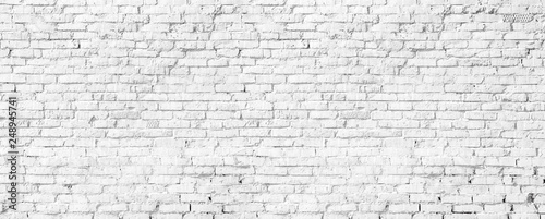 Spoed Foto op Canvas Wand white brick wall texture