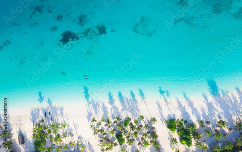 Foto auf Gartenposter Sansibar The beautiful tropical Island of Zanzibar aerial view. sea in Zanzibar beach, Tanzania.