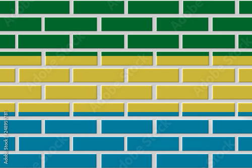 Fotografie, Obraz  gabon brick flag illustration