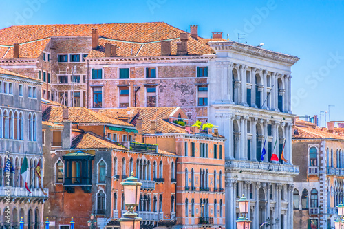 Foto  colorful houses in Venice italy
