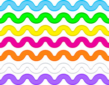 Vector Eps8 Ric Rac In 7 Colors.