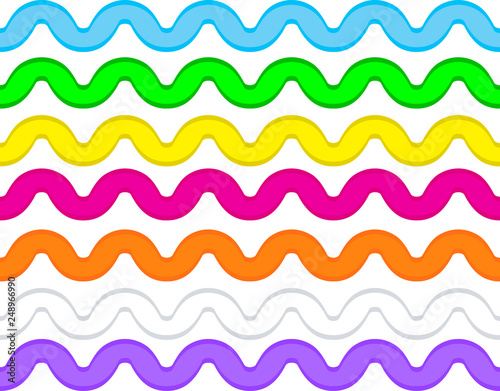 Valokuvatapetti Vector eps8 ric rac in 7 colors.