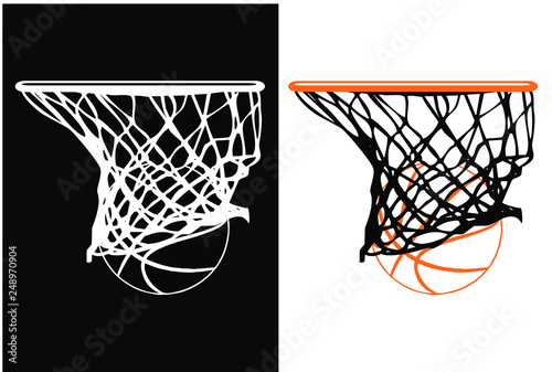 Canvastavla basketball hoop