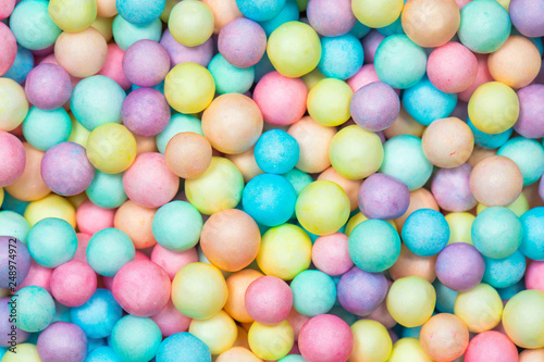 Garden Poster Candy Colorful bright background, multi-colored balls. Sweet nice background candy.