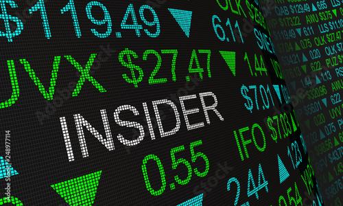 Fotografie, Obraz  Insider Stock Market Illegal Trading 3d Illustration