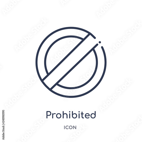 Fotografía  prohibited icon from signs outline collection