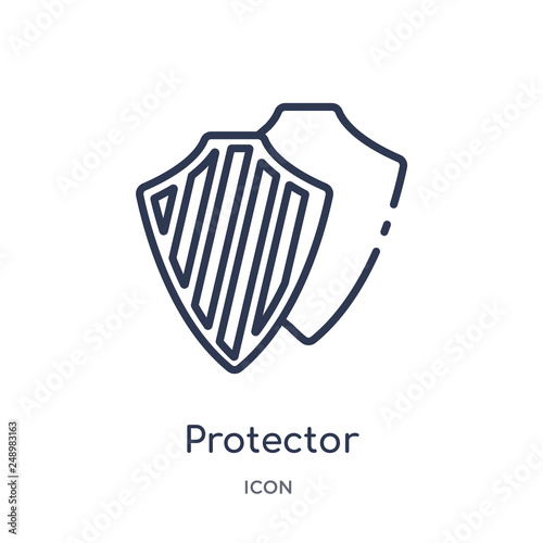 Foto  protector icon from security outline collection