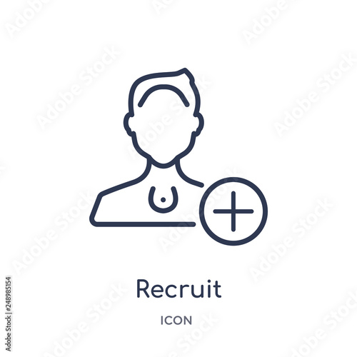 Fotografía  recruit icon from people outline collection