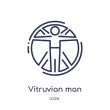 Vitruvian Man Icon From People...