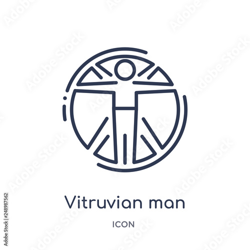 Fotomural vitruvian man icon from people outline collection