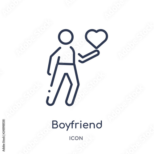 Photo  boyfriend icon from people outline collection