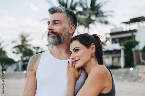Fotografia  Couple on a honeymoon trip