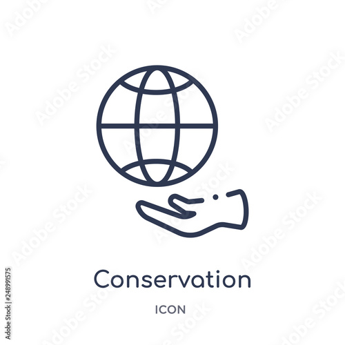 Fotografía  conservation icon from nature outline collection