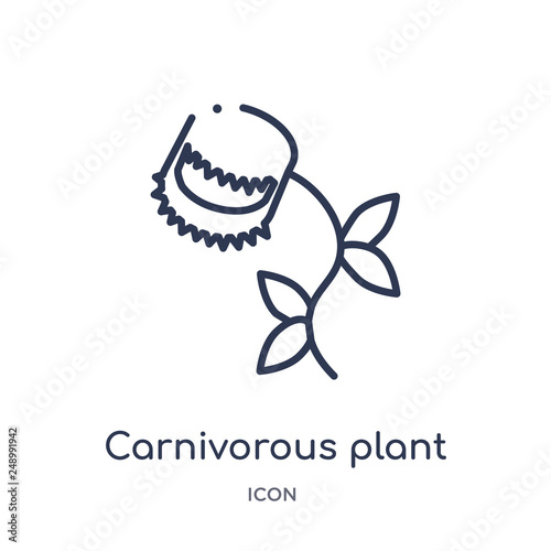 Carta da parati carnivorous plant icon from nature outline collection