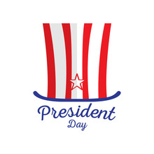 Isolated American Hat. President Day. Vector Illustration Design