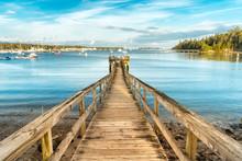 Wooden Pier In Southwest Harbo...