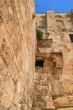 The Southern Temple Mount Wall At The Double Gate And Crusader Wall Section In Old City Jerusalem