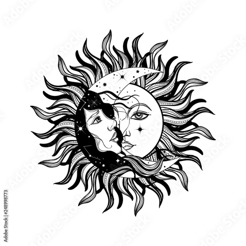 Photo Sun eclipse concept