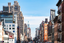 View Of The Historic Buildings Along 14th Street In The Meatpacking District Of Chelsea In New York City