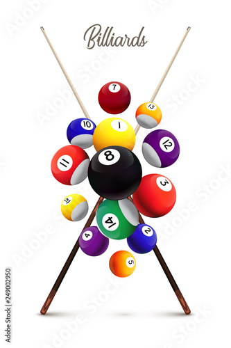 Foto Billiards poster template