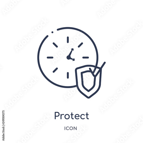 Fotografia  protect icon from time management outline collection