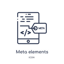 Meta Elements Icon From Techno...