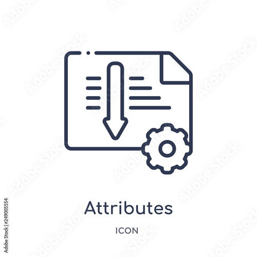 attributes icon from technology outline collection Canvas Print