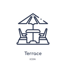 Terrace Icon From Summer Outli...