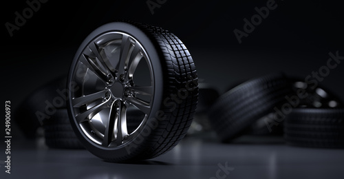 Fotomural  Alloy wheels tire auto cast
