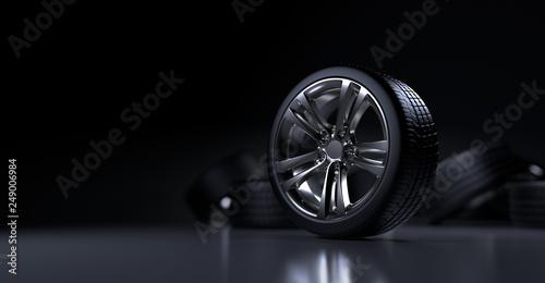 Fotografie, Obraz tire auto cast