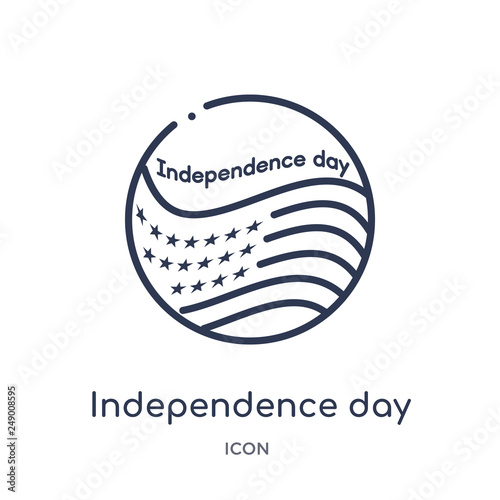 Fotografia  independence day icon from united states outline collection
